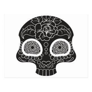 Sugar Skull Heart and Flower Postcard