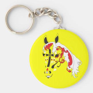 sugar skull horse keychain