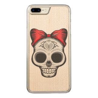 Sugar Skull Illustration Carved iPhone 8 Plus/7 Plus Case