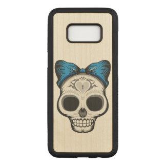 Sugar Skull Illustration Carved Samsung Galaxy S8 Case