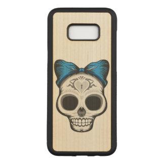Sugar Skull Illustration Carved Samsung Galaxy S8+ Case