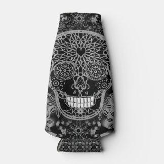 Sugar Skull in Black and White Bottle Cooler