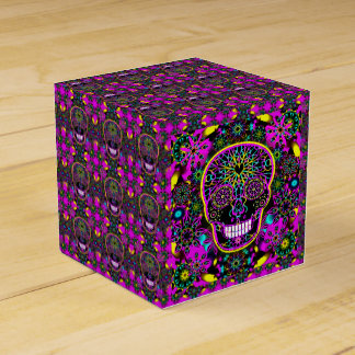 Sugar Skull in Neon Pink Favour Box