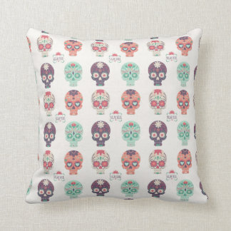 Sugar Skull Inspired Throw Pillow