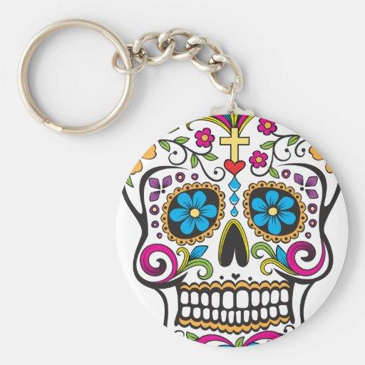 Sugar Skull Keychain