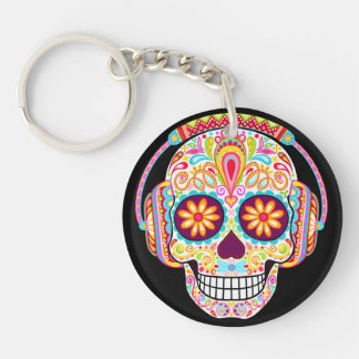 Sugar Skull Keychain (Double-Sided)