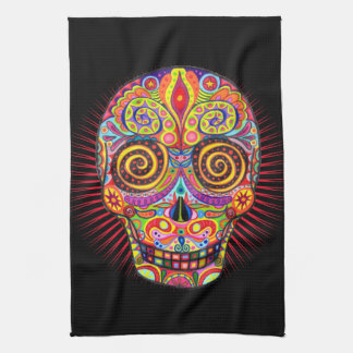 Sugar Skull Kitchen Towel - Day of the Dead