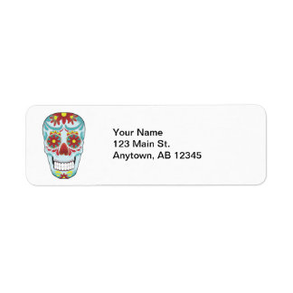 Sugar Skull Label Return Address Label