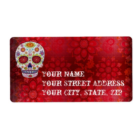 Sugar Skull Large Address Labels