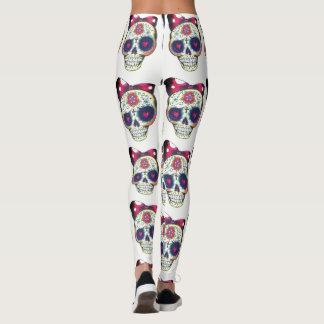 sugar skull leggings