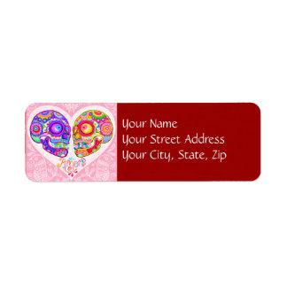 Sugar Skull Love Couple Return Address Labels
