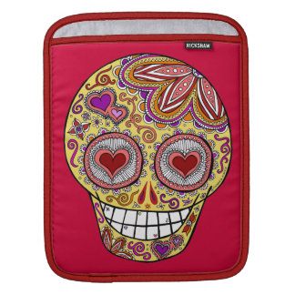 Sugar Skull Love Heart Eyes iPad Sleeve