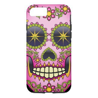 Sugar Skull Magenta Floral iPhone 8/7 Case