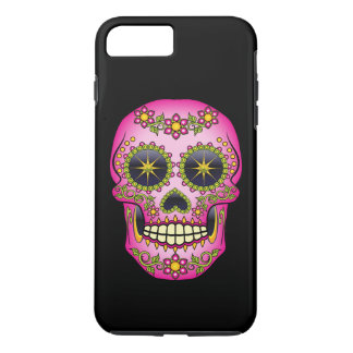 Sugar Skull Magenta Floral iPhone 8 Plus/7 Plus Case