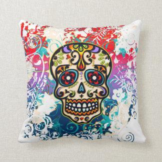 Sugar Skull, Mexico, Dias de los Muertos Cushion