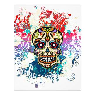 Sugar Skull, Mexico, Dias de los Muertos 21.5 Cm X 28 Cm Flyer