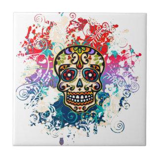 Sugar Skull, Mexico, Dias de los Muertos Tile