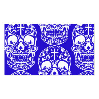 Sugar Skull Midngiht Blue.png Business Card Templates