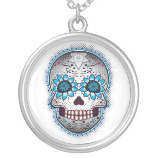 Sugar Skull Round Pendant Necklace