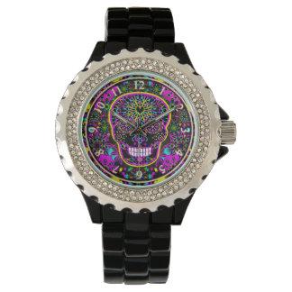 Sugar Skull Neon Pink Watch