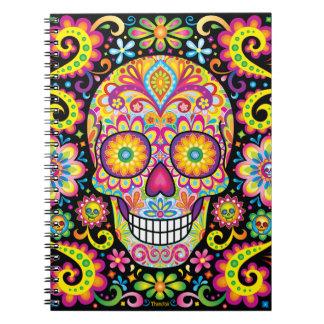 Sugar Skull Notebook - Day of the Dead Art