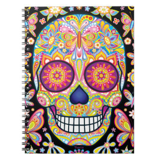 Sugar Skull Notebook - Day of the Dead Art