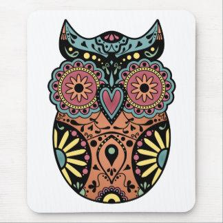 Sugar Skull Owl Color Mouse Mat