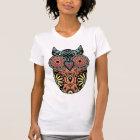 Sugar Skull Owl Colour T-Shirt