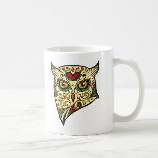 Sugar Skull Owl Head Coffee Mug