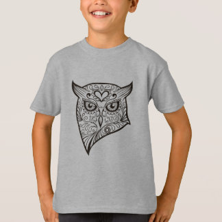 Sugar Skull Owl Head T-Shirt