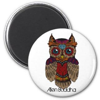 Sugar Skull Owl Magnet