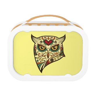 Sugar Skull Owl - Tattoo Design Lunch Box