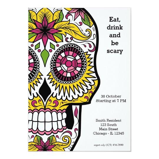 Sugar Skull party Card