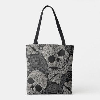 Sugar Skull Pattern All-Over-Print Tote Bag