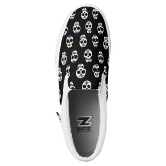 Sugar Skull Pattern Slip On Shoes Printed Shoes