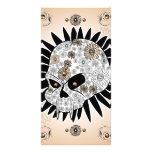 Sugar skull personalized photo card