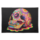 Sugar Skull Placemat - Day of the Dead Art