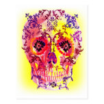 SUGAR SKULL PSYCHEDELIC PRINT POST CARDS