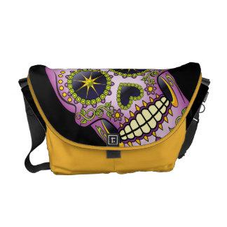 Sugar Skull Purple Floral Commuter Bag