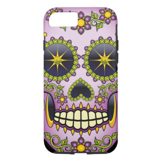 Sugar Skull Purple Floral iPhone 8/7 Case