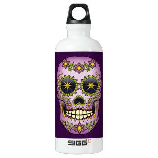 Sugar Skull Purple Floral Water Bottle