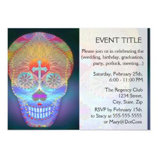 Sugar Skull, Rainbow Day of the Dead 13 Cm X 18 Cm Invitation Card