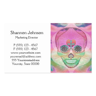 Sugar Skull Rainbow Heart Tree of Life Day of Dead Business Cards