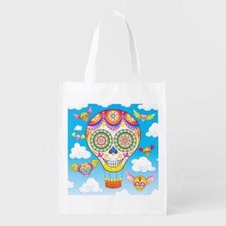 Sugar Skull Reusable Bag - Day of the Dead Bag