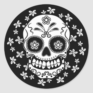 Sugar Skull Round Sticker