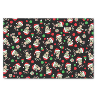 sugar skull santa customizable tissue paper