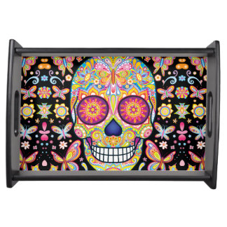 Sugar Skull Serving Tray - Day of the Dead Art