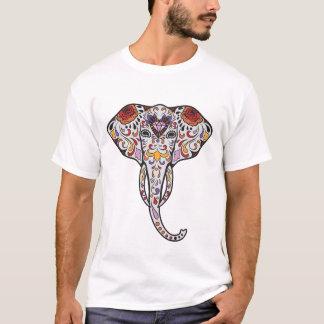 Sugar Skull style Elephant Head print T-Shirt