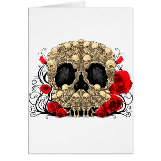 Sugar Skull - Tattoo Design Greeting Card