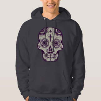 Sugar skull tattoo hooded sweatshirts